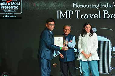 India's most preferred travel tourism brand Award