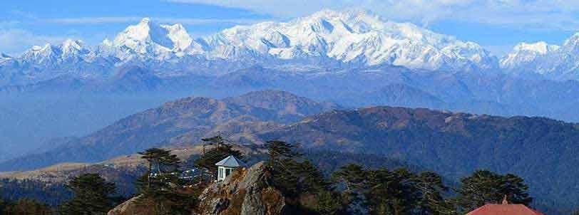 Mount Kanchenjunga view during Lava lolegaon Rishop tour