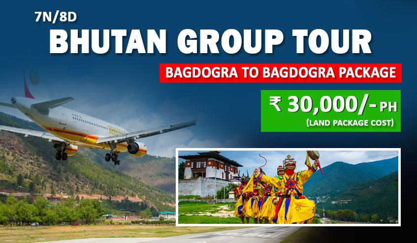bhutan tour plan from bagdogra