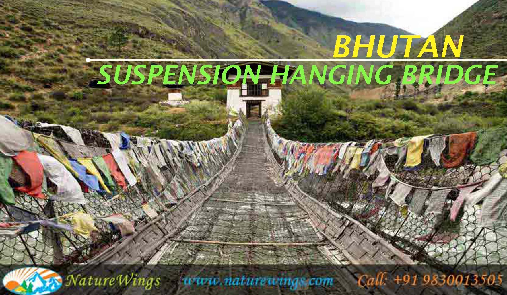 Suspension Hanging bridge Bhutan
