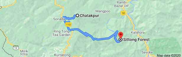 Chatakpur to Sitong Distance