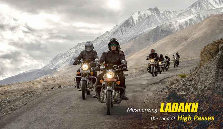 ladakh to pangong lake bike trip