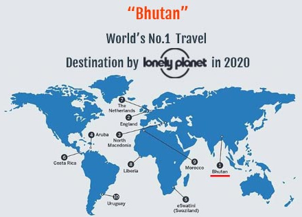 Bhutan World's No.1 Travel Destination by Lonely Planet in 2020