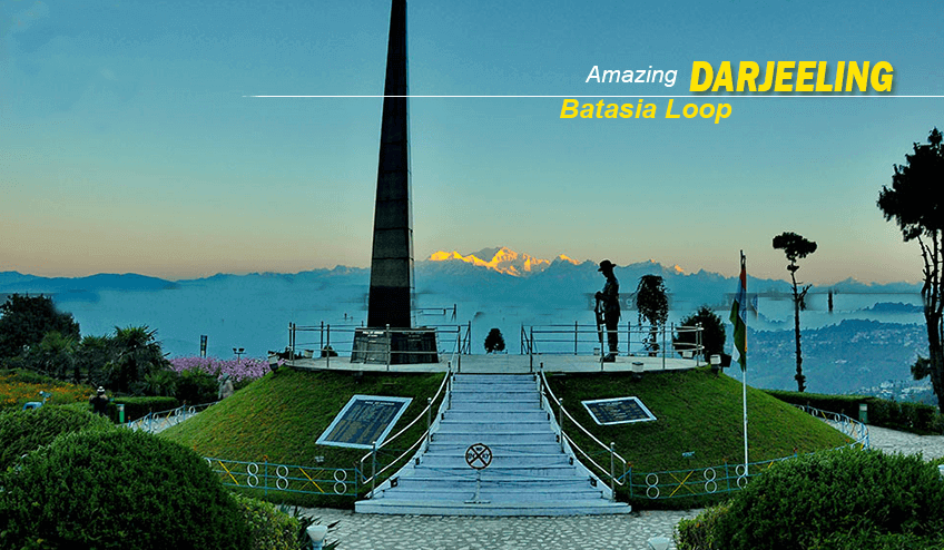 Batasia loop during Kalimpong Package Tour