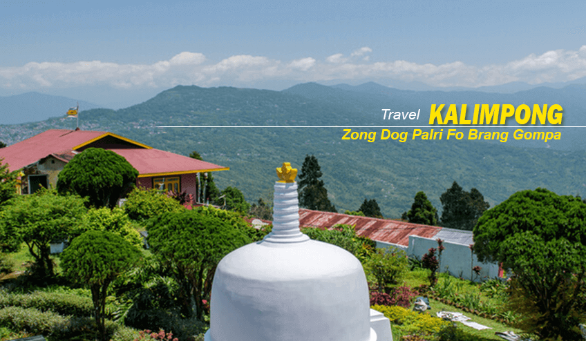 Zong Dog Palri Fo Brang Gompa view during Kalimpong Package Tour