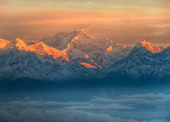Tiger Hill Sunrise Point in Darjeeling