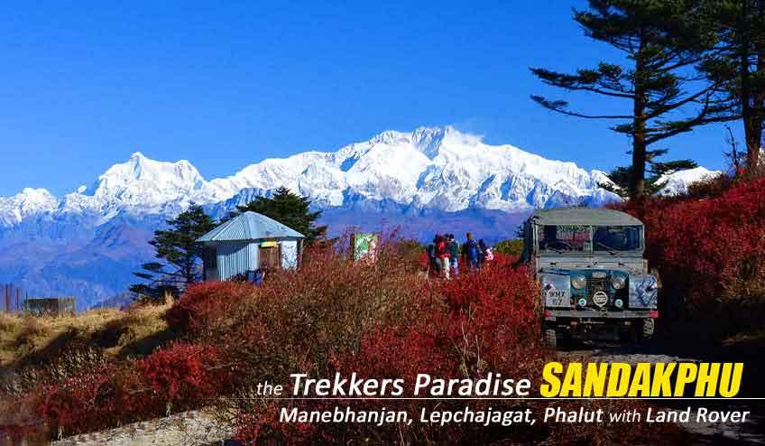 sandakphu trek with land rover