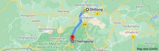 shillong to cherrapunji