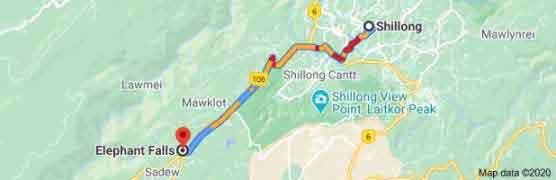 shillong to elephant falls tour