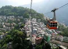 Ropeway in Gangtok