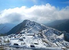 Snowfall in Darjeeling