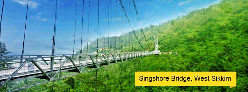 singshore bridge west sikkim tour