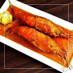 sundarban tour food menu - Galda Chingri Curry