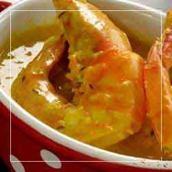 sundarban tour food menu - Chingri Curry