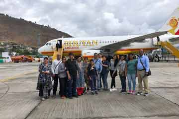 Dinesh Garg enjoying Bhutan Trip