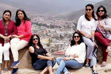 Megha Thawani and Group from Mumbai During Bhutan Sightseeing Tour