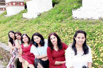 Megha Thawani and Group enjoying Bhutan Tour from Mumbai