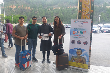 Shobhana Hadap and Group from Mumbai Enjoying Bhutan Sightseeing