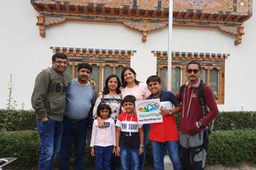 Mehul Patwar and Group enjoying Bhutan Trip