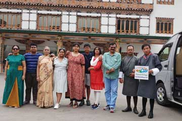 Partha Dey and Group During Bhutan Sightseeing Tour