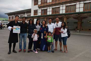 Sandesh Ladha and Group enjoying Bhutan Activities